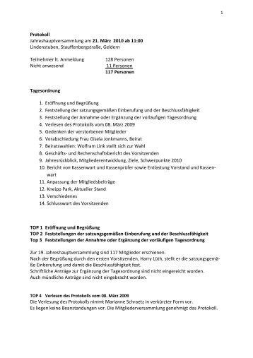 2010-03-21 Protokoll Mitgliederversammlung - Kneipp-Verein ...