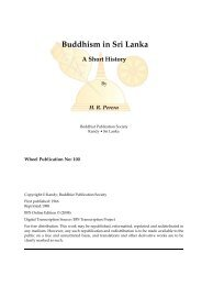 Buddhism in Sri Lanka: A Short History - Buddhist Publication Society