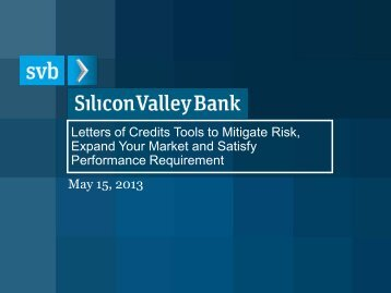 Download the Presentation - Silicon Valley Bank