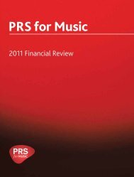 2011 PRS for Music financial review (PDF)