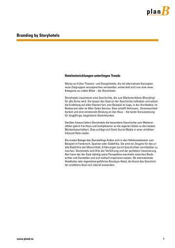 Whitepaper - Branding by Storyhotels - planB Werbeagentur GmbH