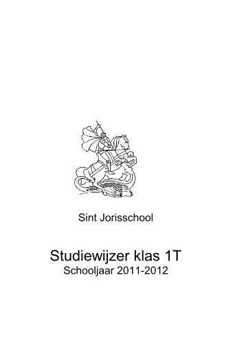 Studiewijzer klas 1T - St. Jorisschool Nijmegen
