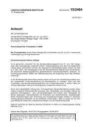 Drs. 15/2484 vom 28.07.2011 - Sagel, Rüdiger (Die Linke)
