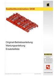 Saatbettkombination SKM Original ... - Knoche Maschinenbau GmbH