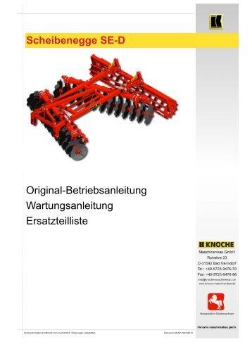 Scheibenegge SE-D - Knoche Maschinenbau GmbH