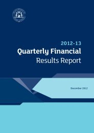 Quarterly Financial Results Report - Department of Treasury ...