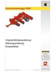 Kurzscheibenegge SEM Original ... - Knoche Maschinenbau GmbH
