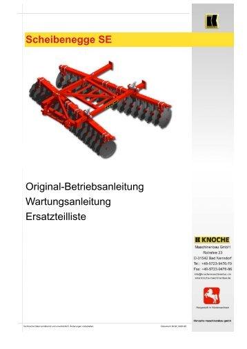 Scheibenegge SE - Knoche Maschinenbau GmbH
