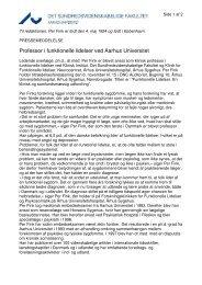 Professor i funktionelle lidelser ved Aarhus Universitet