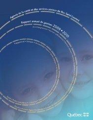 Rapport annuel 2009-2010-Version finale-Site Web - Agence de la ...