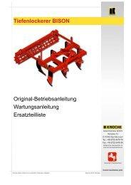 Tiefenlockerer BISON Original ... - Knoche Maschinenbau GmbH
