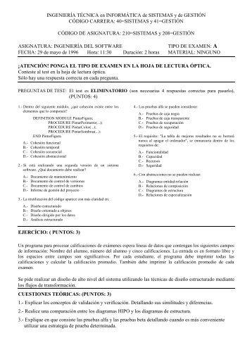 INGENIERÍA TÉCNICA en INFORMÁTICA de SISTEMAS y de ...