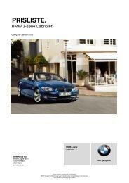 Prislister - BMW