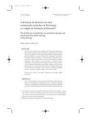 A definição de diretrizes em uma estruturação curricular em ...