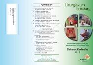 Liturgiekurs Freiburg - Katholisches Dekanat Karlsruhe