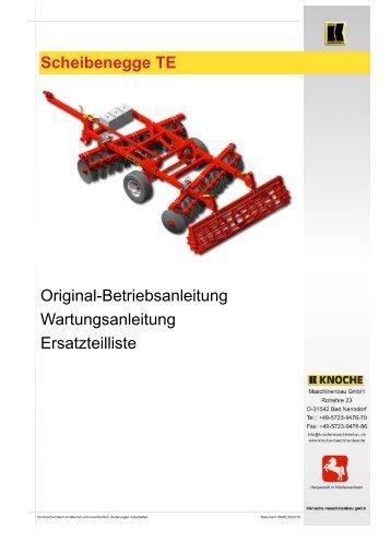 Scheibenegge TE - Knoche Maschinenbau GmbH