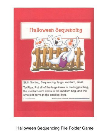 halloween sequencing file folder game 1 2 3 learn curriculum - Halloween File Folder Games