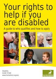 Your rights to help if you are disabled - Hertfordshire County Council