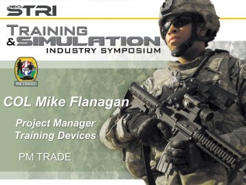 COL Michael Flanagan - PEO STRI - U.S. Army