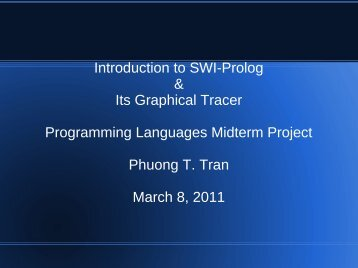 Introduction to SWI-Prolog & Its Graphical Tracer Programming ...