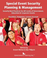 Excerpt from Special Event Security Planning & Management