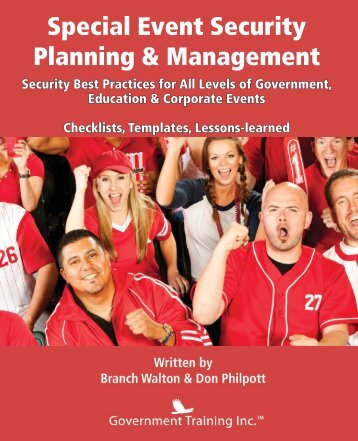 Guide preparing alcohol management plan amp special event excerpt from special event security planning management pronofoot35fo Gallery