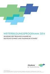WEITERBILDUNGSPROGRAMM 2014 - Academies