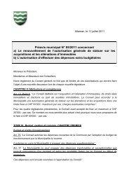 Préavis N° 05/2011 relatif à l'autorisation générale de ... - Allaman
