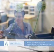 Strukturierter Qualitätsbericht 2010 - Klinik Königshof Krefeld