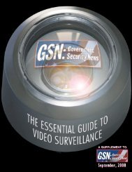 For the best in video surveillance - Government Security News