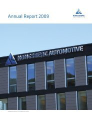 Consolidated Statement of Comprehensive ... - Kongsberg Automotive