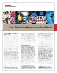 Secure Collaboration Between Communities of Interest - Raytheon ...
