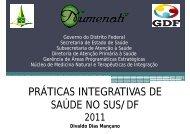 PRÁTICAS INTEGRATIVAS DE SAÚDE NO SUS/DF