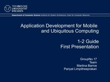 Application Development for Mobile and Ubiquitous Computing 1-2 ...
