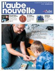 Recherche assistants familiaux - Conseil général de l'Aube