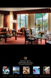 come home to our extended stay apartments - Executive Hotels and ...