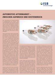 Automotive Aftermarket - zwischen Aufbruch und Kostendruck - ISB AG