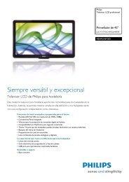 42HFL4372D/10 Philips Televisor LCD profesional - Crambo