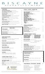 Biscayne Dinner Menu (PDF) - Hilton HHonors