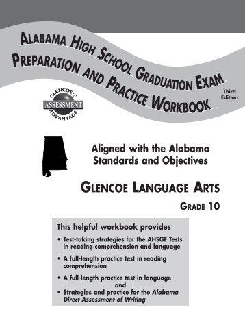 Answer Key Glenco Literature grammar and language workbook