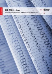 Broschüre: SAP ECM by fme - fme AG