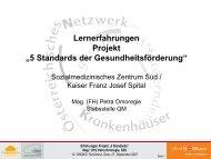 Lernerfahrungen SMZ Süd / Kaiser Franz Josef Spital - ONGKG