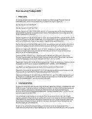 Plan Anual de Trabajo 2005 - Chavimochic