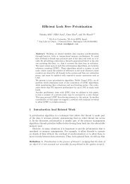 Efficient Lock Free Privatization - Multicore Computing Group