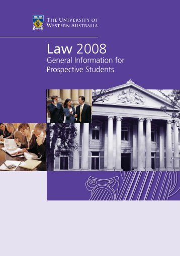 Law 2008 - Current Students - The University of Western Australia