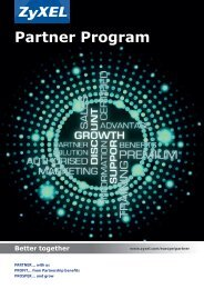 Download Brochure - Partner - ZyXEL
