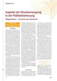 Aspekte der Wundversorgung in der ... - Werner Sellmer