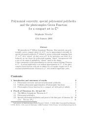 Polynomial convexity, special polynomial polyhedra and the ...