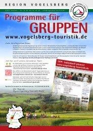 Programme für Gruppen - Vogelsberg Touristik