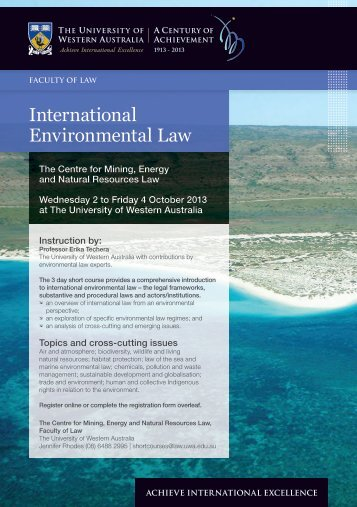 International Environmental Law - Faculty of Law - The University of ...